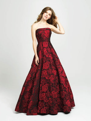 Madison James 19-124 prom dress images.  Madison James 19-124 is available in these colors: Light Pink, Ivory, Black, Burgundy Black, Green Black.