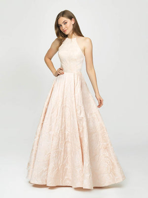 Madison James 19-125 prom dress images.  Madison James 19-125 is available in these colors: Light Pink, Ivory, Black, Burgundy Black, Green Black.