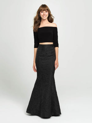 Madison James 19-126 prom dress images.  Madison James 19-126 is available in these colors: Black Light. Pink, Black Ivory, Black, Black Burgundy, Black Green.