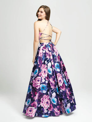 Madison James 19-127 prom dress images.  Madison James 19-127 is available in these colors: Navy Mulighti.