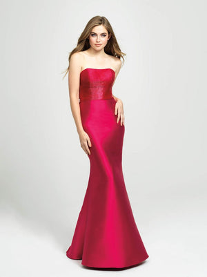 Madison James 19-130 prom dress images.  Madison James 19-130 is available in these colors: Yellow, Black, Green, Cerise.