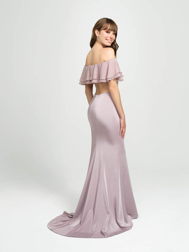 Madison James 19-137 prom dress images.  Madison James 19-137 is available in these colors: Lilac, Pink, Ivory.