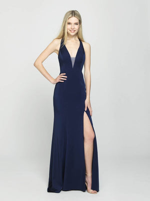 Madison James 19-139 prom dress images.  Madison James 19-139 is available in these colors: Plum, Navy, Pink, Red, Black.