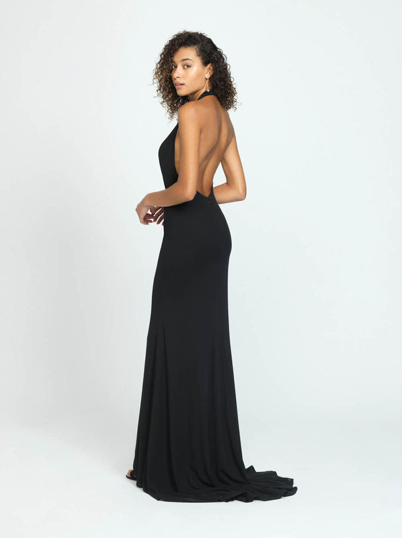 Madison James 19-140 prom dress images.  Madison James 19-140 is available in these colors: Wine, Navy, Black.