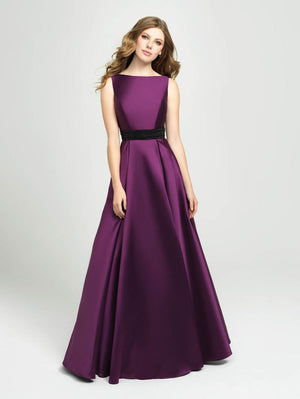 Madison James 19-145 prom dress images.  Madison James 19-145 is available in these colors: Ivory, Black, Burgundy, Green, Purple.