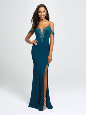 Madison James 19-146 prom dress images.  Madison James 19-146 is available in these colors: Black, Red, Teal.