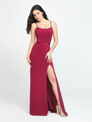Madison James 19-147 prom dress images.  Madison James 19-147 is available in these colors: Navy, Wine, Black.