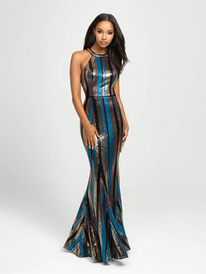 Madison James 19-148 prom dress images.  Madison James 19-148 is available in these colors: Black Mulighti, White Mulighti.