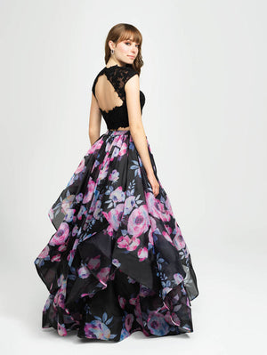 Madison James 19-160 prom dress images.  Madison James 19-160 is available in these colors: Navy, Black.
