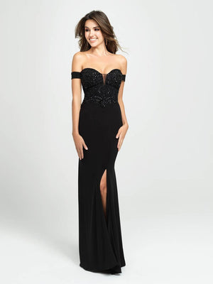 Madison James 19-162 prom dress images.  Madison James 19-162 is available in these colors: Green, Black, Merlot.