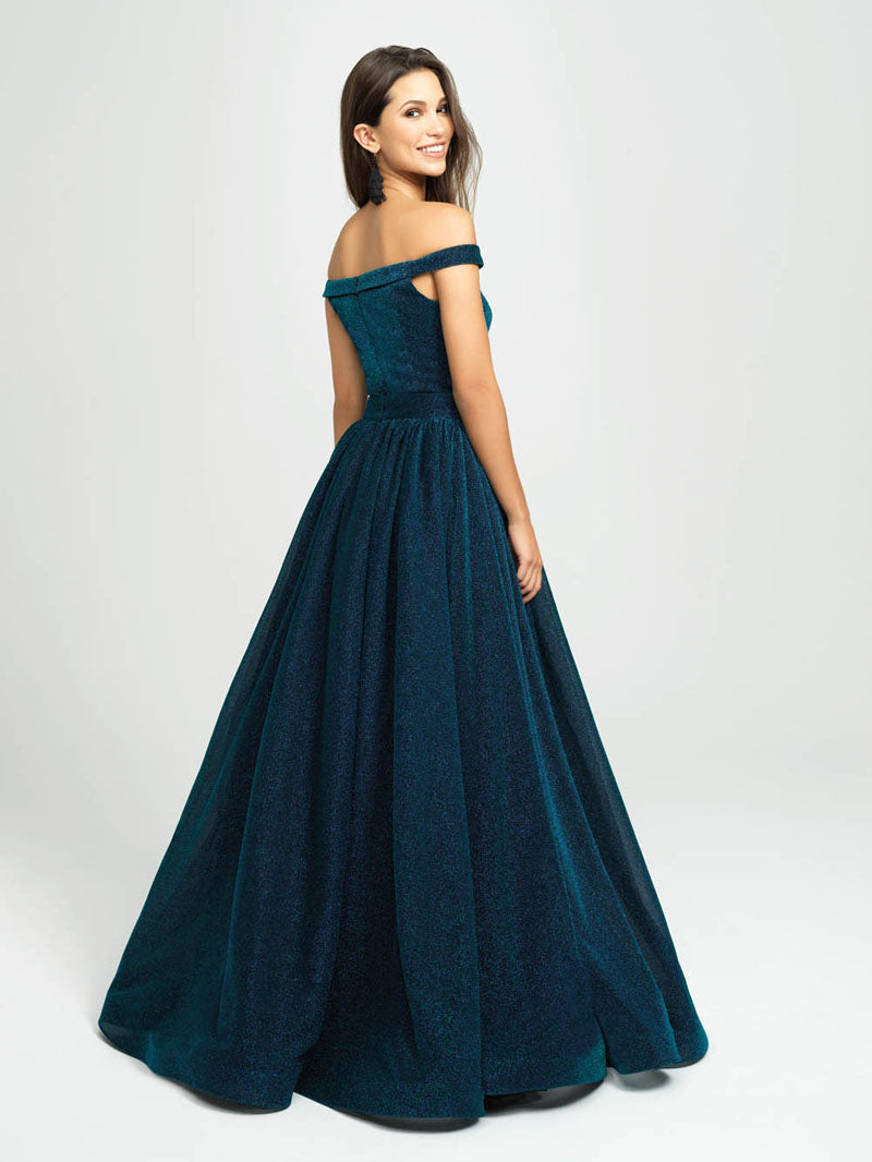 Madison James 19-163 prom dress images.  Madison James 19-163 is available in these colors: Green, Fuchsia.