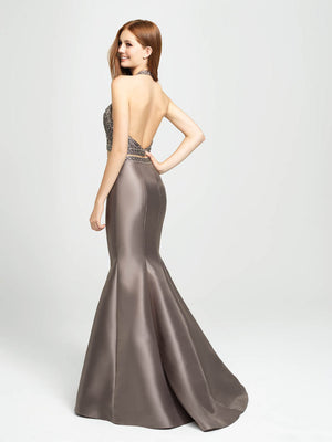 Madison James 19-166 prom dress images.  Madison James 19-166 is available in these colors: Navy, Black, Gray.