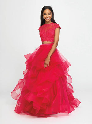 Madison James 19-169 prom dress images.  Madison James 19-169 is available in these colors: Fuchsia, Teal, Red.