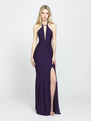 Madison James 19-170 prom dress images.  Madison James 19-170 is available in these colors: Purple, Charcoal, Burgundy.