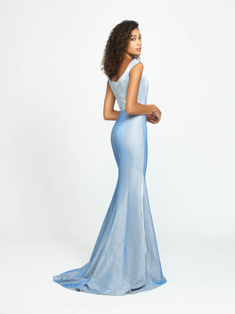 Madison James 19-175 prom dress images.  Madison James 19-175 is available in these colors: Rose Gold, Lilac, Light Blue.