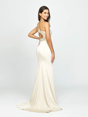 Madison James 19-177 prom dress images.  Madison James 19-177 is available in these colors: Burgundy, Champagne, Black.