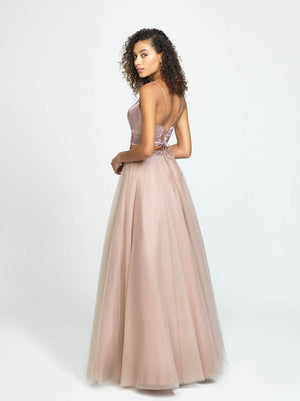 Madison James 19-181 prom dress images.  Madison James 19-181 is available in these colors: Fuchsia, Periwinkle, Mauve, Black.