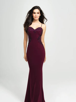Madison James 19-182 prom dress images.  Madison James 19-182 is available in these colors: Black, Wine, Royal, Red.