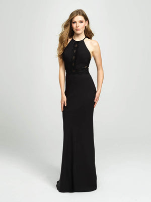 Madison James 19-184 prom dress images.  Madison James 19-184 is available in these colors: Red, Black, Aqua.