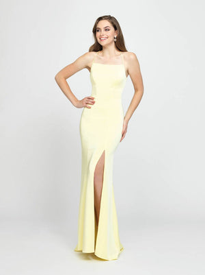 Madison James 19-185 prom dress images.  Madison James 19-185 is available in these colors: Navy, Rose, Red, Yellow.