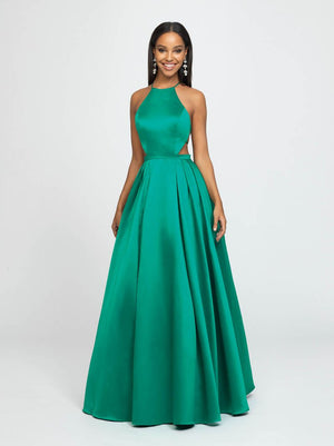 Madison James 19-186 prom dress images.  Madison James 19-186 is available in these colors: Emerald, Yellow, Fuchsia.