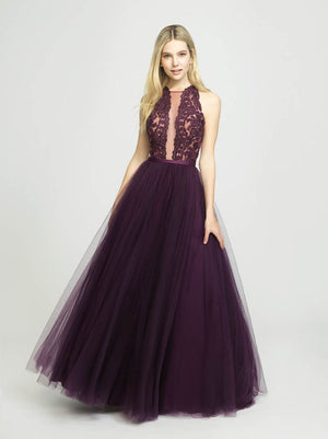 Madison James 19-190 prom dress images.  Madison James 19-190 is available in these colors: Black, Navy, Eggplant.