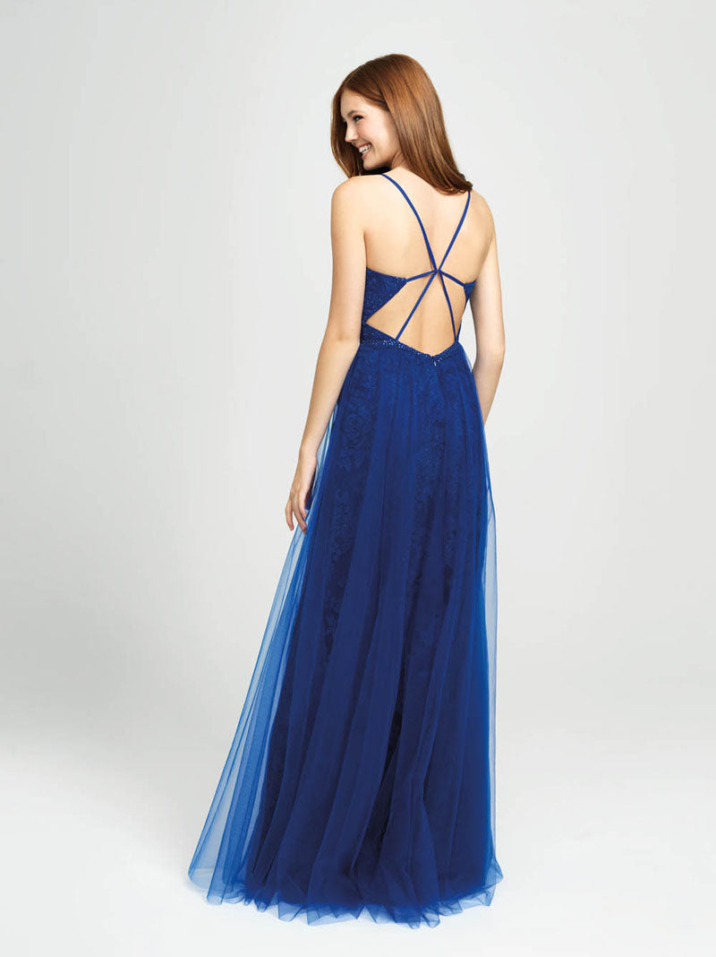 Madison James 19-195 prom dress images.  Madison James 19-195 is available in these colors: Royal, Red, Black.