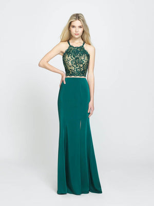 Madison James 19-201 prom dress images.  Madison James 19-201 is available in these colors: Green, Wine, Champagne.