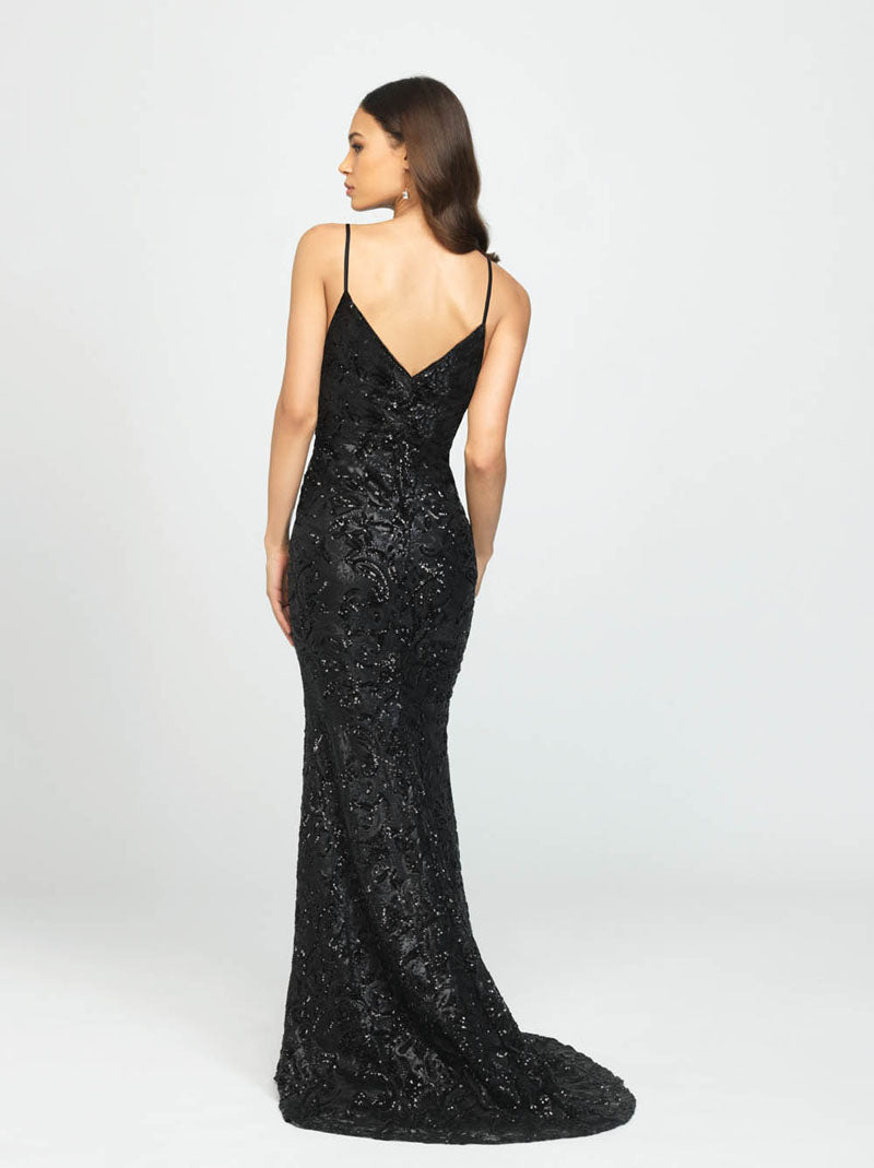 Madison James 19-202 prom dress images.  Madison James 19-202 is available in these colors: Black.