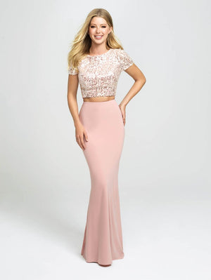 Madison James 19-207 prom dress images.  Madison James 19-207 is available in these colors: Pink, Ivory.
