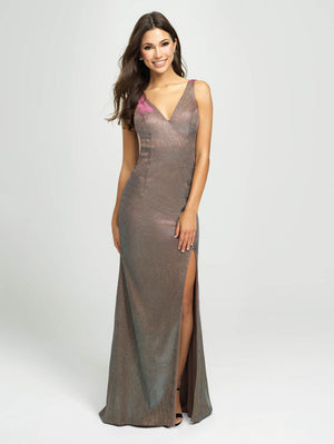 Madison James 19-208 prom dress images.  Madison James 19-208 is available in these colors: Gold, Silver, Royal.