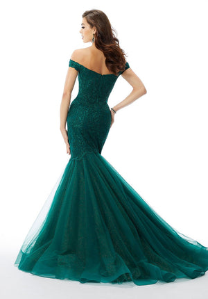 Morilee 430600 prom dress images.  Morilee 430600 is available in these colors: Emerald, Deep Royal, Red.