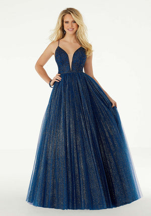 Morilee 45004 prom dress images.  Morilee 45004 is available in these colors: Blush, Navy, Turquoise.