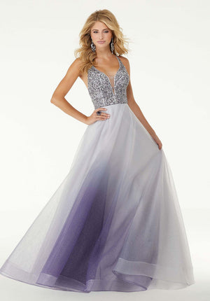 Morilee 45006 prom dress images.  Morilee 45006 is available in these colors: Ultra Violet, Twilight.