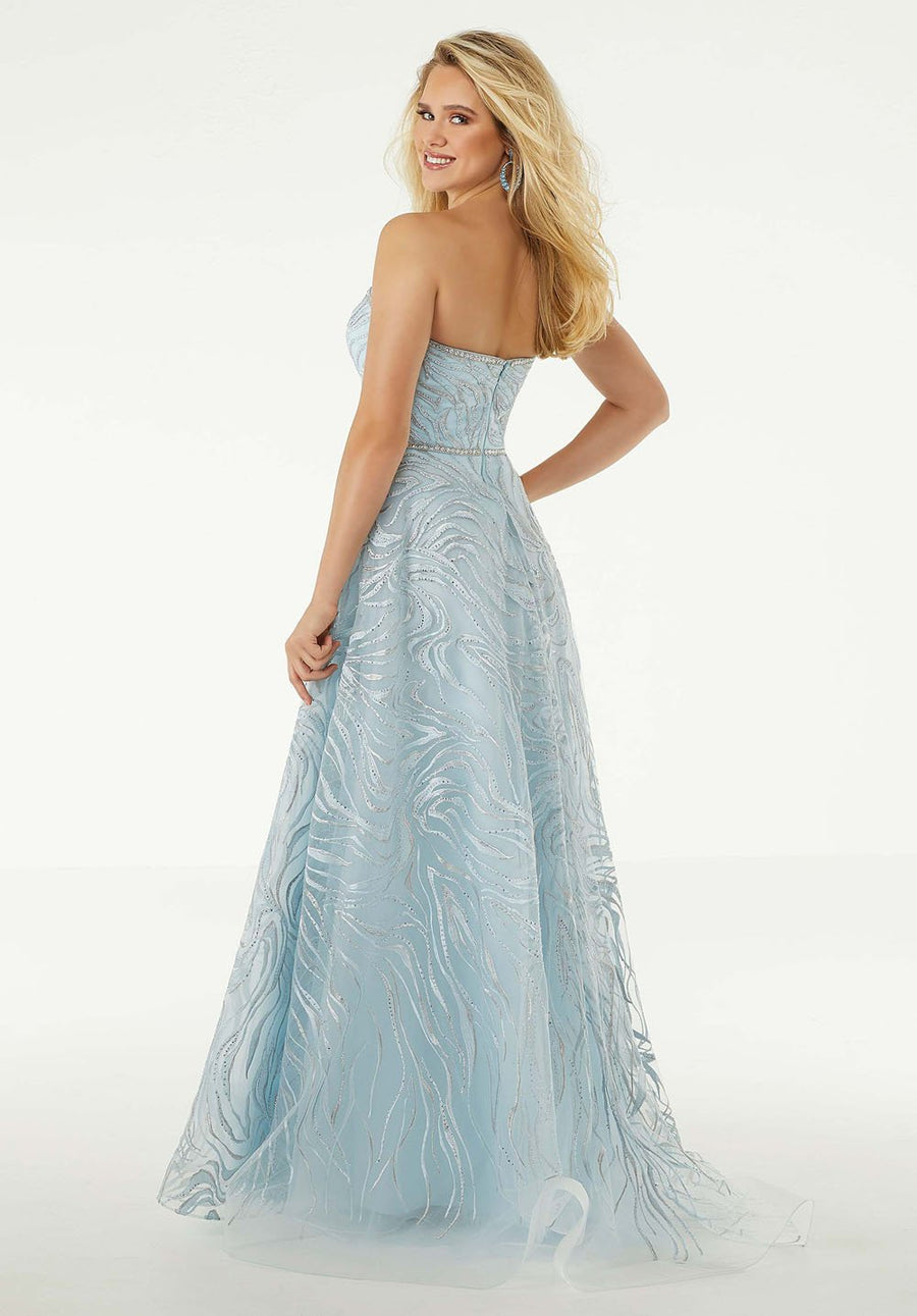 Morilee 45010 prom dress images.  Morilee 45010 is available in these colors: Silver Sky.