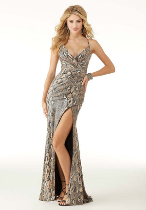 Morilee 45017 prom dress images.  Morilee 45017 is available in these colors: Python.