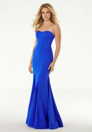 Morilee 45034 prom dress images.  Morilee 45034 is available in these colors: Yellow, Fuchsia, Royal.