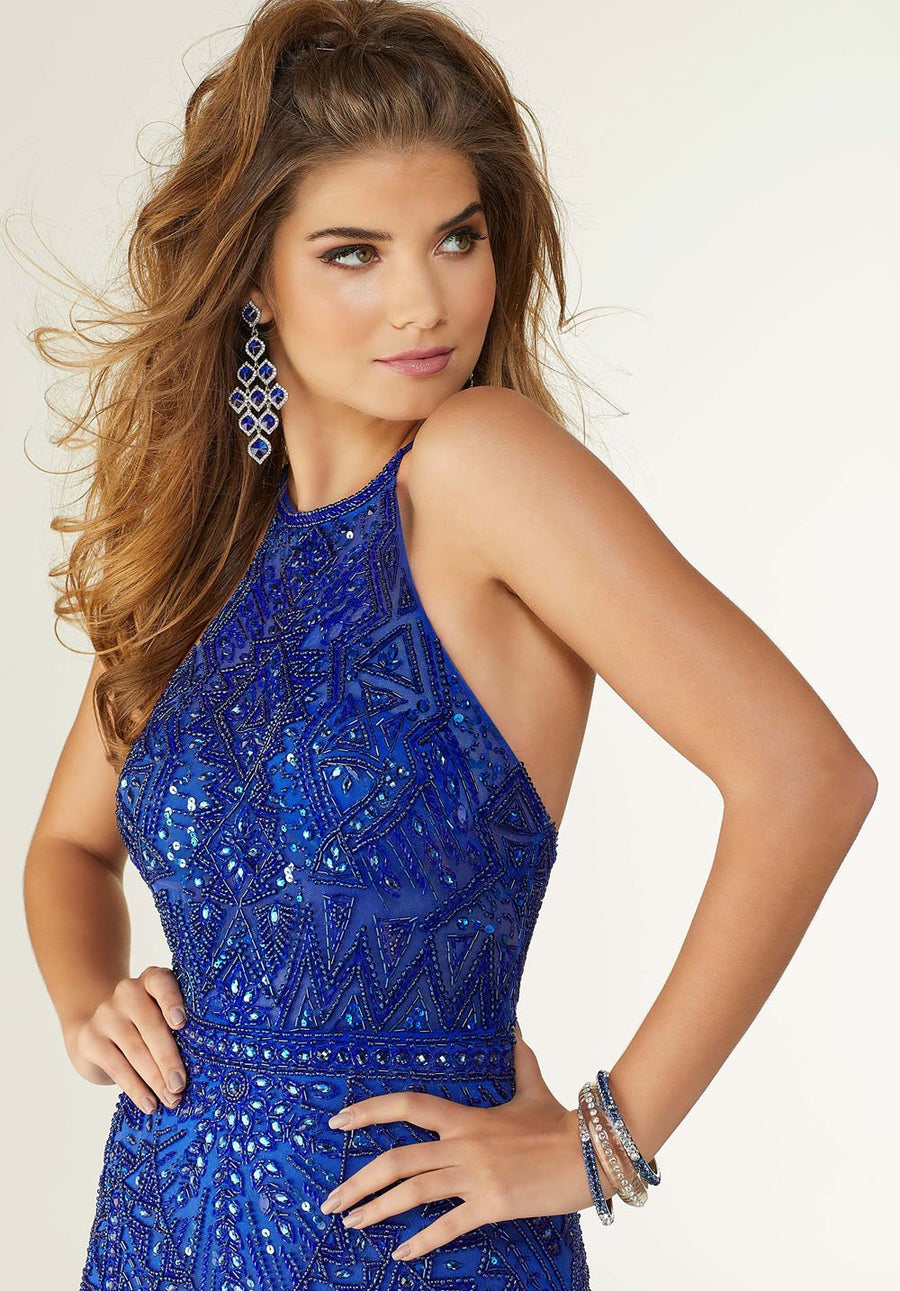Morilee 45035 prom dress images.  Morilee 45035 is available in these colors: Royal.