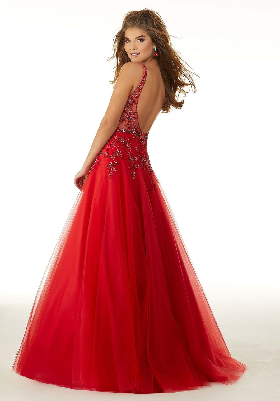 Morilee 45036 prom dress images.  Morilee 45036 is available in these colors: Scarlet, Regal Royal, Blush Rose Gold.