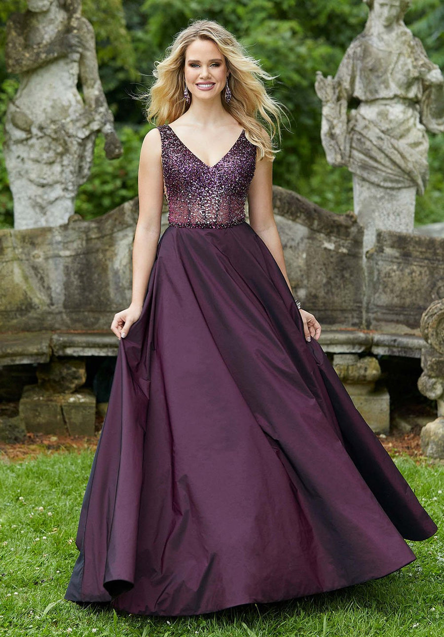 Morilee 45037 prom dress images.  Morilee 45037 is available in these colors: Navy, Wine.