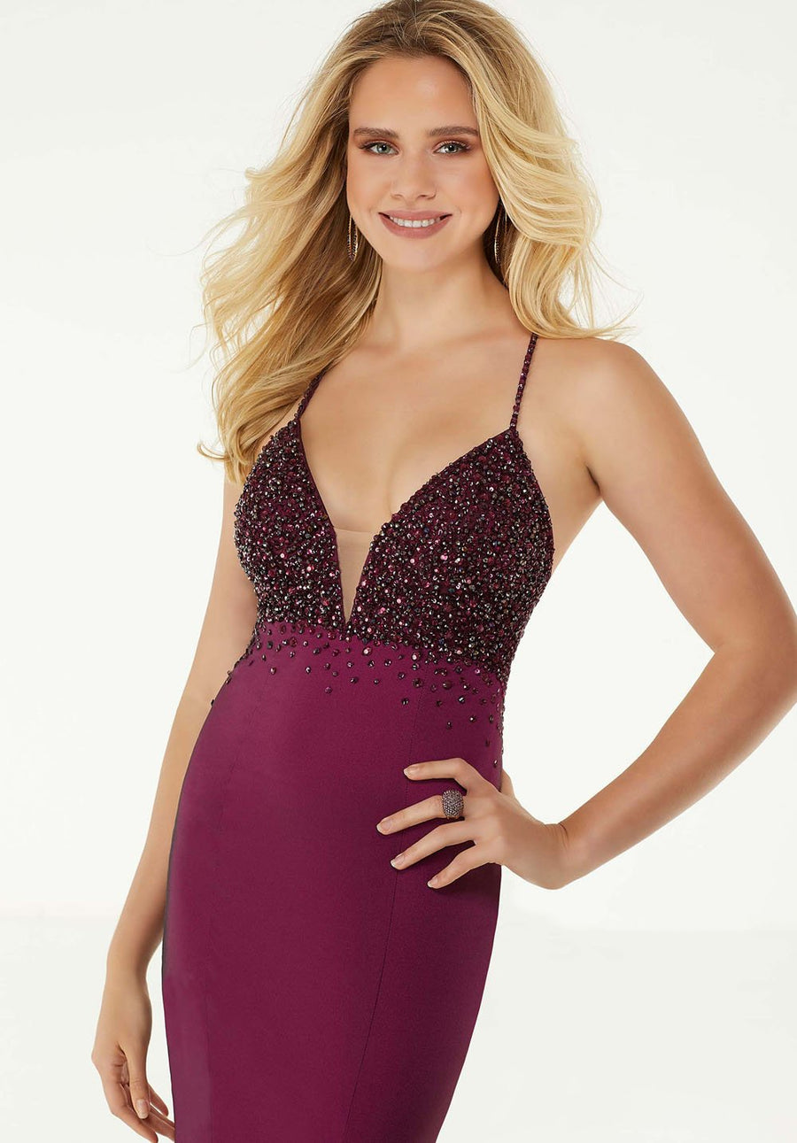 Morilee 45039 prom dress images.  Morilee 45039 is available in these colors: Wine, Navy.