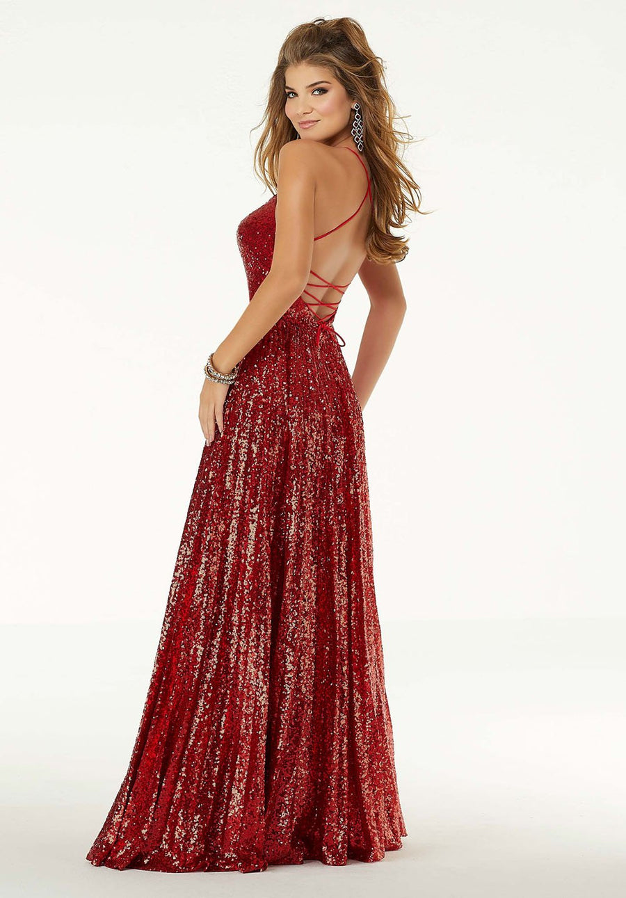 Morilee 45041 prom dress images.  Morilee 45041 is available in these colors: Navy, Red.