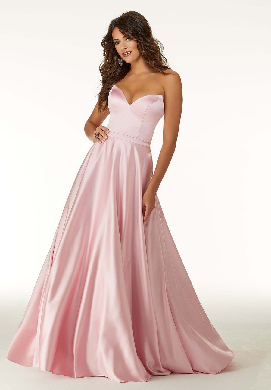 Morilee 45043 prom dress images.  Morilee 45043 is available in these colors: Pink, Navy, Emerald.
