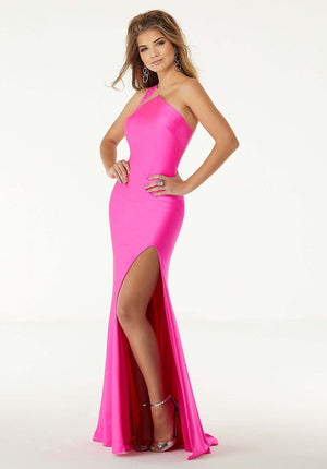 Morilee 45045 prom dress images.  Morilee 45045 is available in these colors: Neon Pink, Neon Lime.
