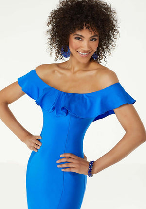 Morilee 45046 prom dress images.  Morilee 45046 is available in these colors: Electric Blue, Neon Pink.