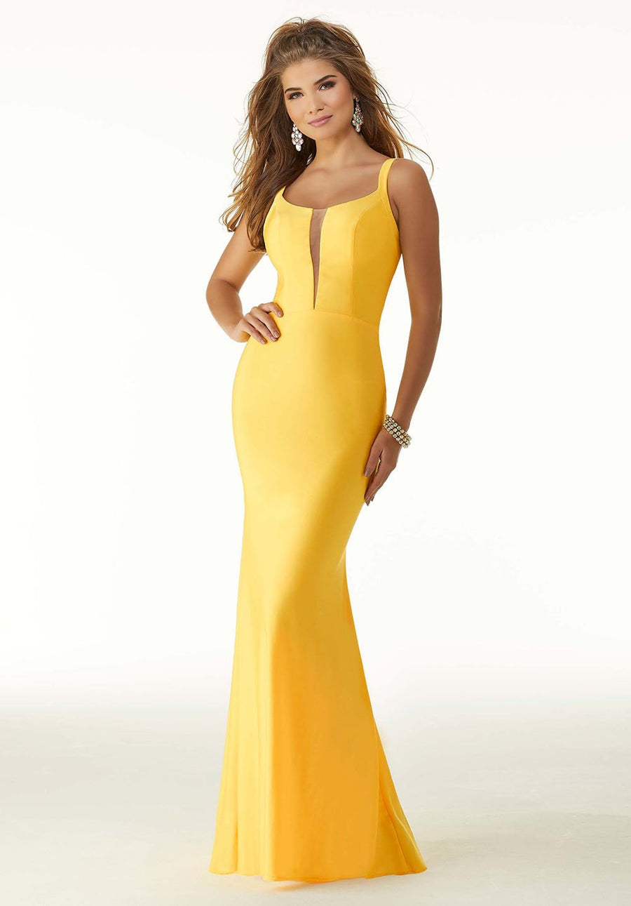 Morilee 45047 prom dress images.  Morilee 45047 is available in these colors: Neon Pink, Bright Yellow, Bright Turquoise.