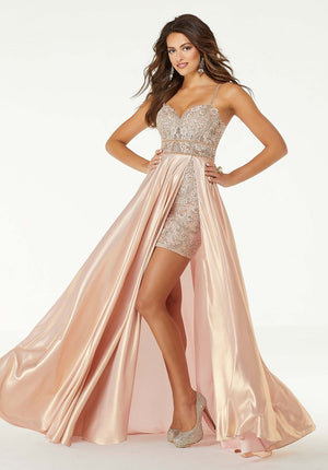 Morilee 45060 prom dress images.  Morilee 45060 is available in these colors: Rose Gold, Ice Blue.