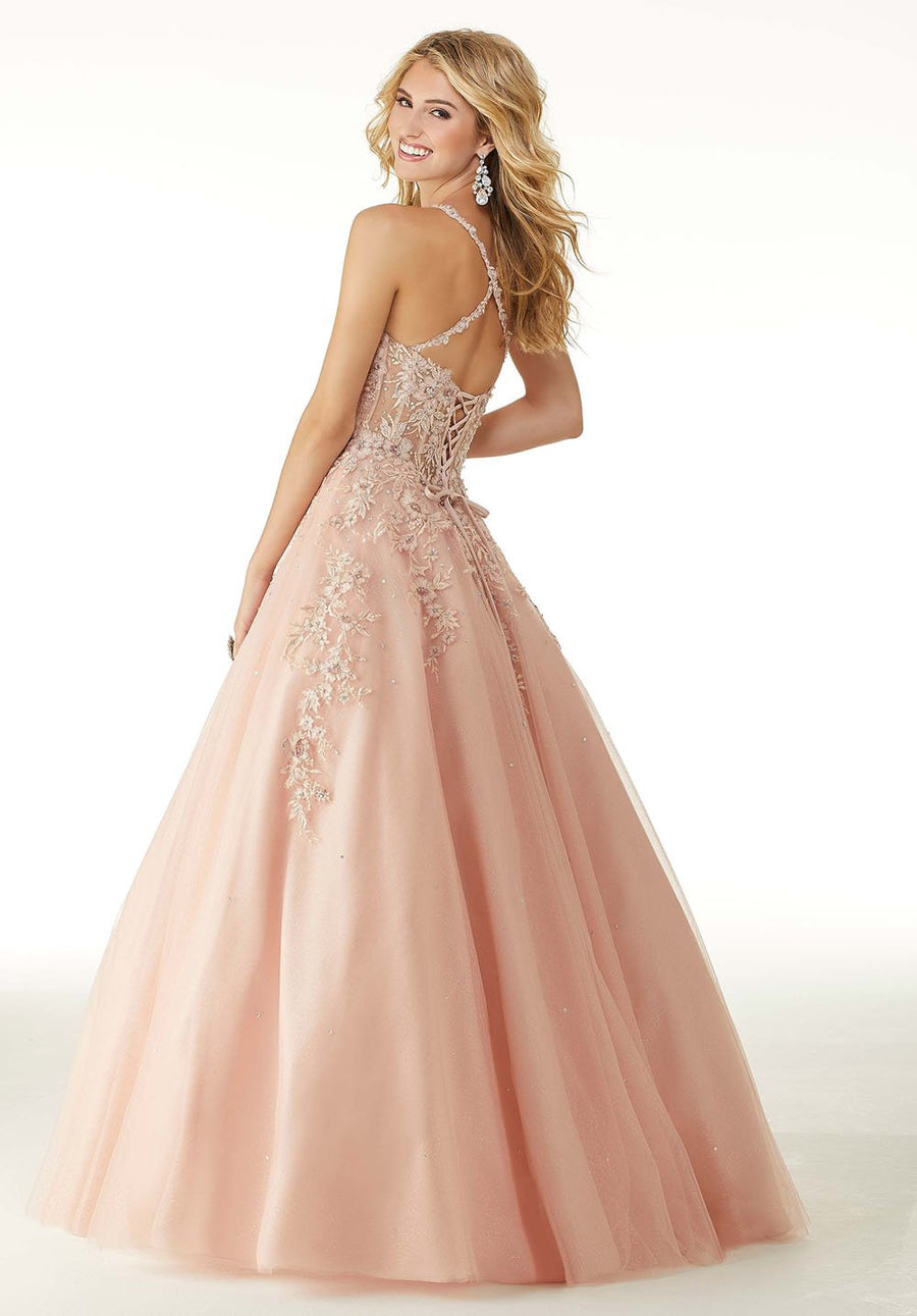 Morilee 45066 prom dress images.  Morilee 45066 is available in these colors: Blush Rose Gold, Champagne Rose Gold.