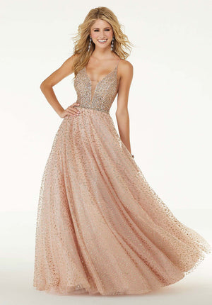 Morilee 45068 prom dress images.  Morilee 45068 is available in these colors: Blush Rose Gold, Black.