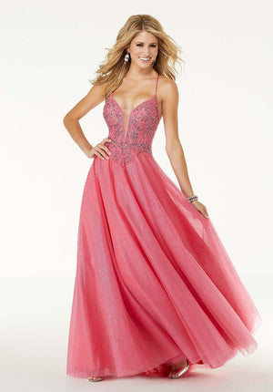 Morilee 45070 prom dress images.  Morilee 45070 is available in these colors: Pink, Blue.